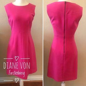 Hot Pink Diane Von Furstenberg Shift Dress